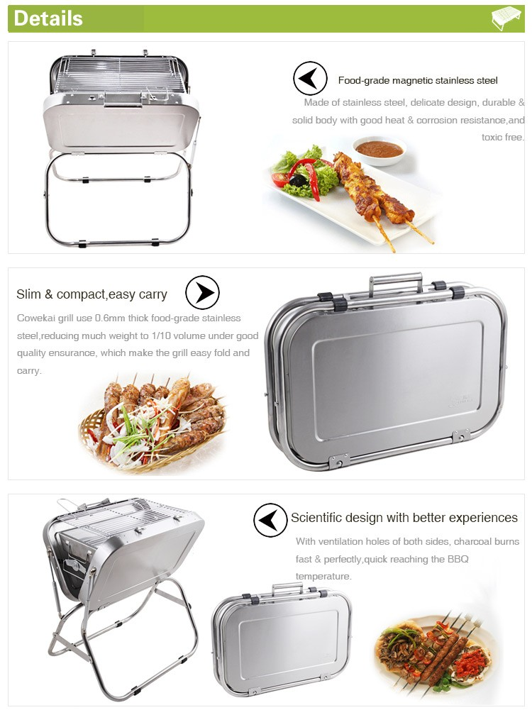 New Grill For Outdoor Picnic Japanese Briefcase Bbq Barbecue - Compact grill containers