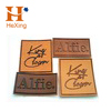 wholesale custom laser cut embossed pu leather patch