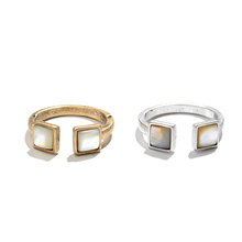 New Design Open Finger Rings With Natural Shell Vintage Antique Gold & Silver Color Cuff Single Rings for Women