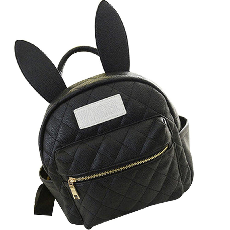 32d513f6577b Get Quotations · Pusheng Bunny Ears Backpack Wonderland Rabbit Pastel Cute  Kawaii Harajuku Small Bag