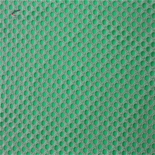 Tricot knitted lattice polyester cotton mesh fabric
