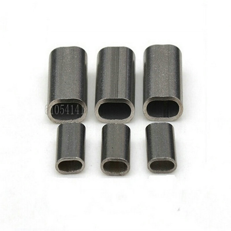 Stainless Steel Wire Rope OVAL Ferrule Sleeves 100PCS 1.5MM Ferrule (For 0.5-1.5MM Wire Rope)
