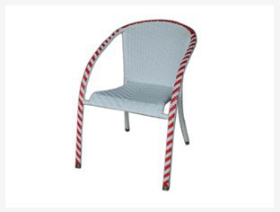 2014 Customized style rattan furniture chair with steel frame