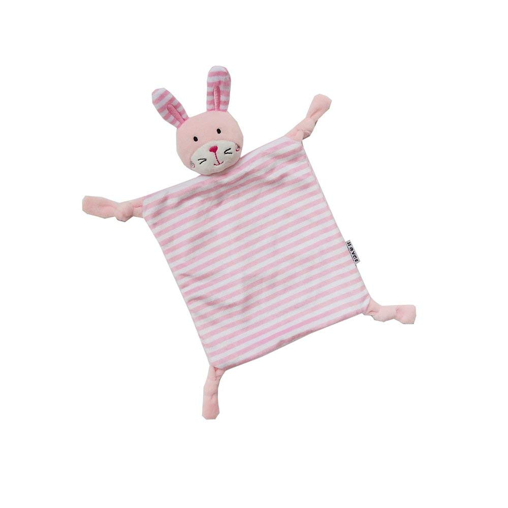 INCHANT Security Blanket Toy - Super Soft Security Blankie For Child, Infant, Toddler - Stuffed Animal Plush Blanket,Pink Rabbit