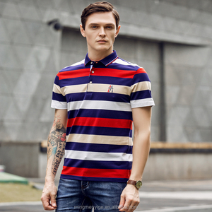 Popular Style Yarn Dyed Cotton Men's T Shirt