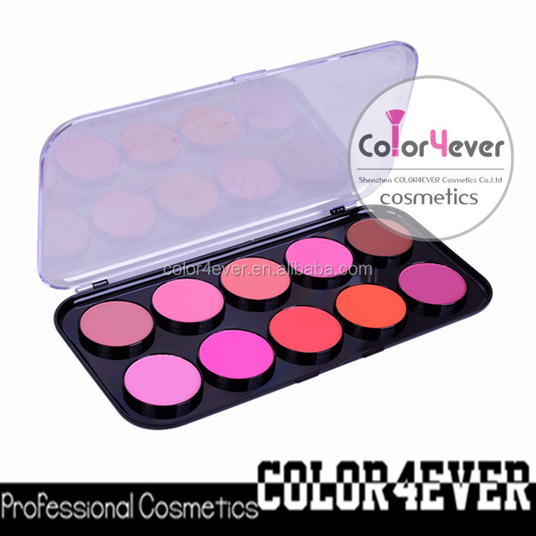 Organic makeup for private label,10 color lipgloss palette