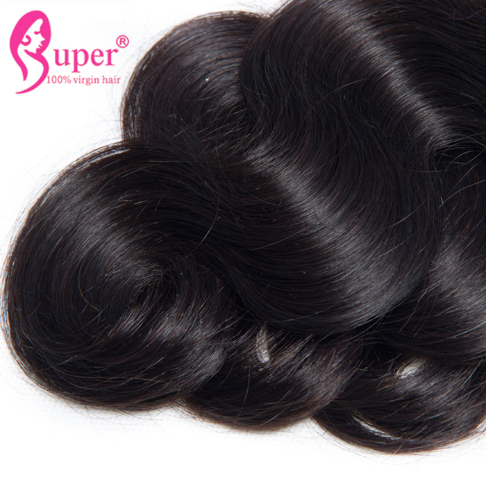 Body Wave Bundles With Transparent Lace Closure 4x4 One Donor Cuticle Align Hair Fast Shipping