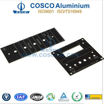OEM Black anodized Aluminum chassis front Panel