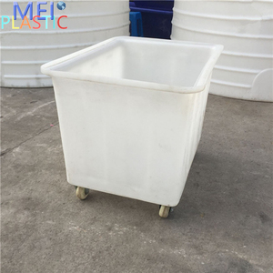 Customized large food grade poly plastic food trolley tub poly box truck for sale