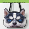 Hot sale stereo cute dog head pattern leisure shoulder bag