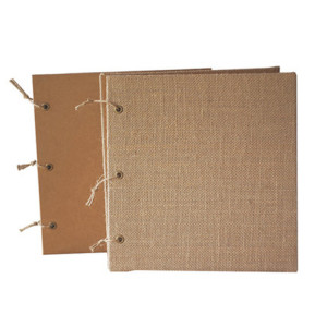 Hemp Rope Binding DIY Mini Empty Photo Albums With Different Inner Pages