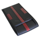 For D-max 2016 New ABS Black-Red Double Color Plastic Hood Scoops Cover Scoops Vent Truck Pickup4x4 Bonnet Scoops Cover