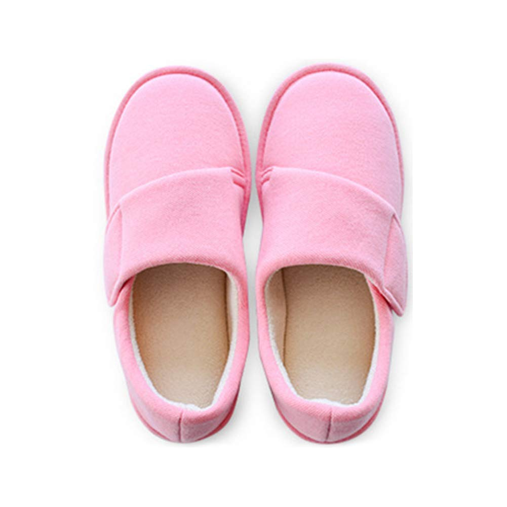 0909a48298e1 Get Quotations · BUYITNOW Womens Extra Extra Wide Slippers with Adjustable  Closures Swollen Feet for Pregnant