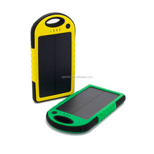 5000mAh Slim Solar Power Bank Backup Portable Battery Solar Charger 2in1