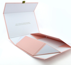 SENCAI hot sale custom logo pink color foldable magnetic cardboard paper box with ribbon