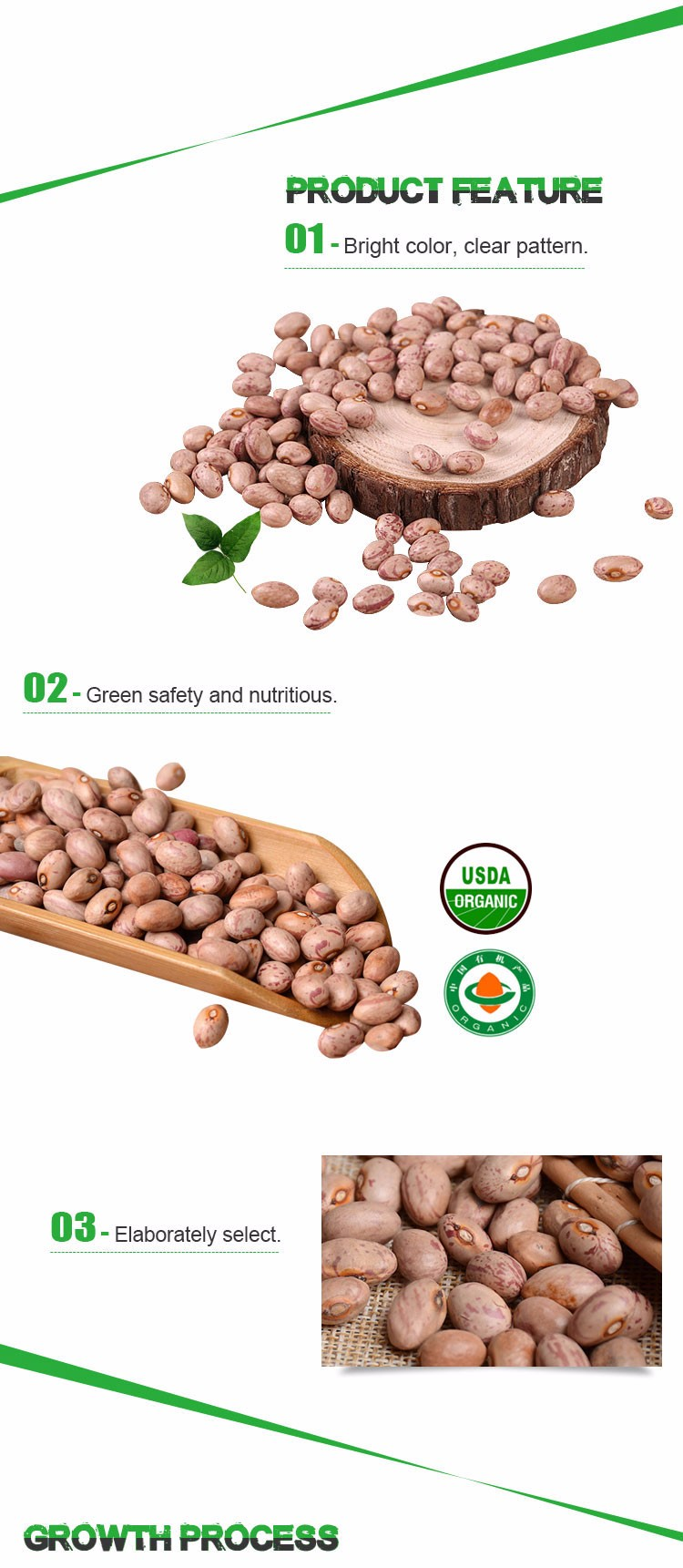 Huanan round light speckled kidney beans Heilongjiang origin