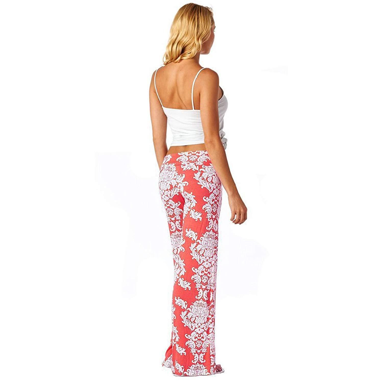 63495870f3 Get Quotations · Helen-sky Women Floral Wide Leg Pants Bohemian Damask  Palazzo Pants Floral Print Casual Long