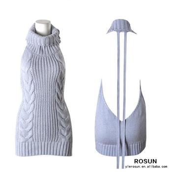 67ccf85bc7d Virgin Killer Turtleneck Backless Sweater Dress - Buy Turtleneck ...