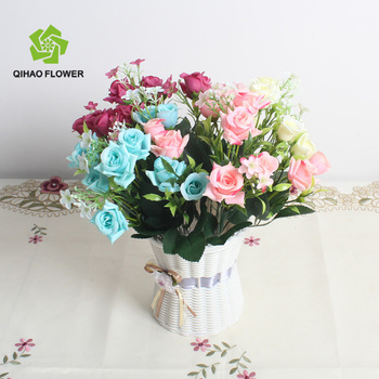 Alibaba Buy Rose On Bouquet artificial rose In Bouquet com China wholesale Small Artificial Product Flower Rose - Silk Wholesale