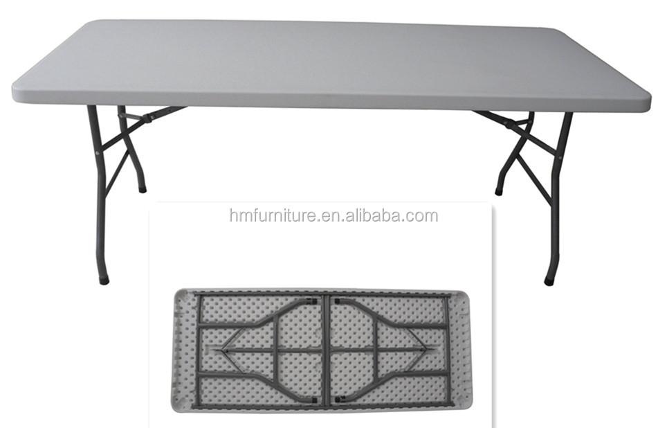 Blanc 180/cm Table pliante avec tr/éteaux
