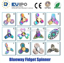 CE Newest Rainbow Metal Spinner Relieve Stress High Speed Focus Toy Perfect For ADD, ADHD, Anxiety, and Auttism Adult Children