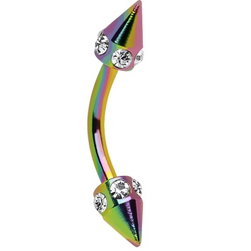 piercing body jewelry taper rainbow eyebrow nail
