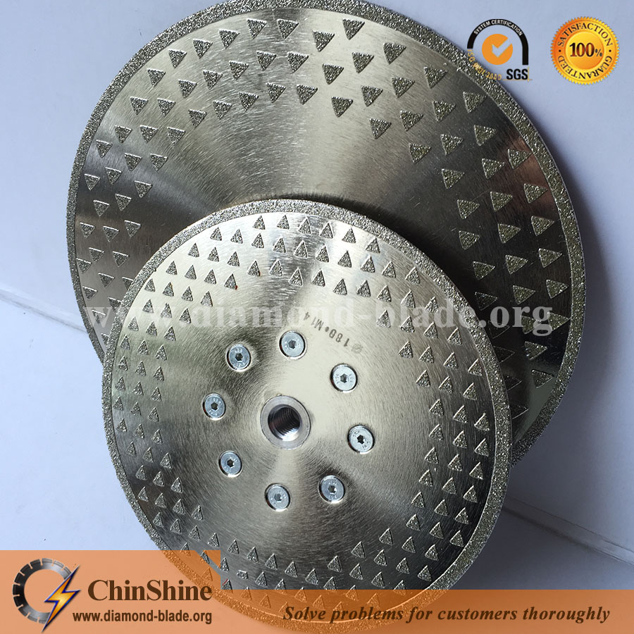 125mm to 230mm electroplated diamond saw blade cutting disc for stone