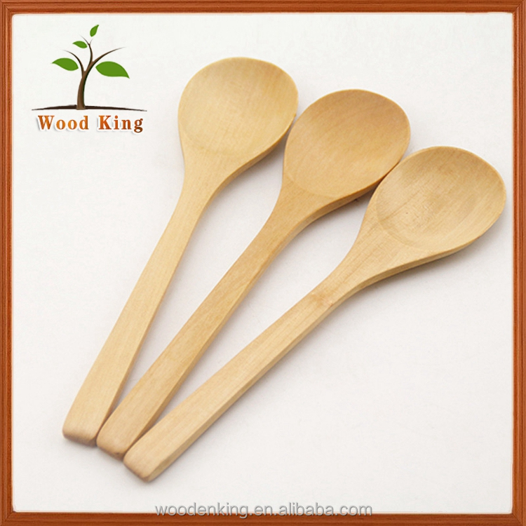 Wholesale Various High Quality Wooden Round Spoon Custom Logo 2 Inch Spoon