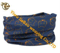 Dog face print cute multifunction scarf