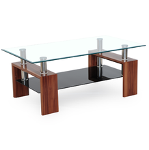 MDF furniture glass top coffee table tea table