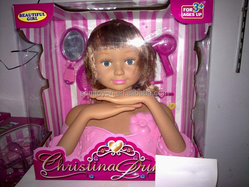 Doll Head Hair Styling: Populaire Make-up Pop Hoofd Voor Kinderen,Haar Styling