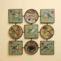 Cast Iron Vintage Wall Decor Wall Art in Bird Painting