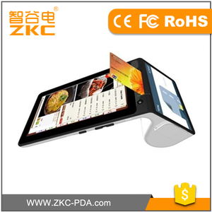 Portable Android pos terminal with thermal printer 3G NFC mobile pos handheld pos terminal ZKC900