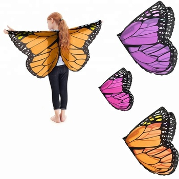 Princess Cute Butterfly Wings Shawl Cape Stole Kids DIY Cosplay Halloween Costume