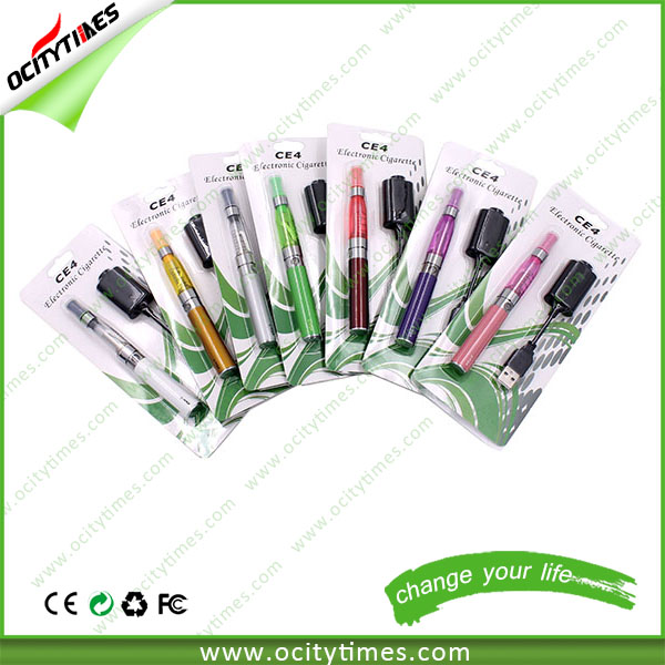 Travel products 2015 electronic cigarette ego ce4 blister kit 1100mah long and thin e cigarette