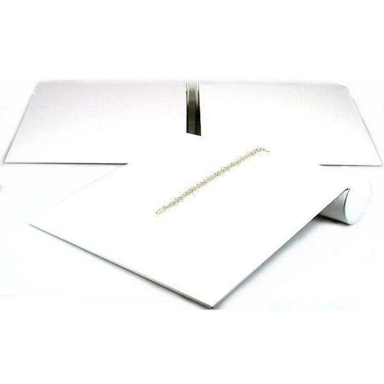 3 Bracelet Ramp Display White Showcase Countertop Unit