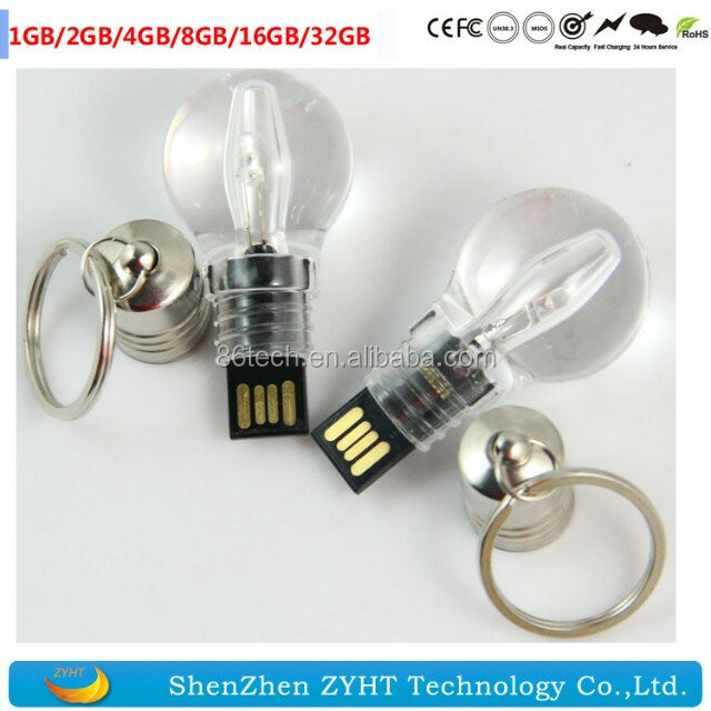 The Best New Light Bulb Model Usb Flash Drive Usb 2.0 Memory Stick Luminous Lamp Pendrive 64gb 8gb 16gb 32gb Keychain Usb Creative Gift Latest Technology External Storage