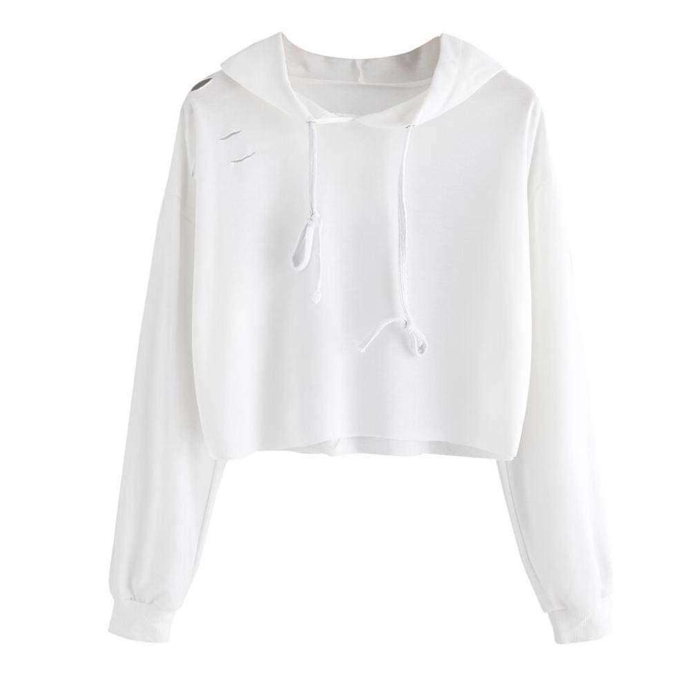Zainafacai 2018 Womens Fashion Long Sleeve Crew Neck Pullover Sweatshirt Hoodie Side Casual Tops Blouse