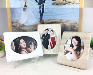 Natural environmental wooden photo frame customized shape and size desktop wood picture frame 4x6