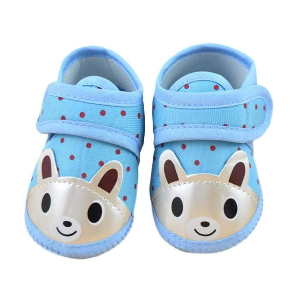 Exteren Infant Toddler Baby Boy Girl Toddler Warm Soft Crib Sole Shoes Canvas Sneaker (3-6 Months, Blue)