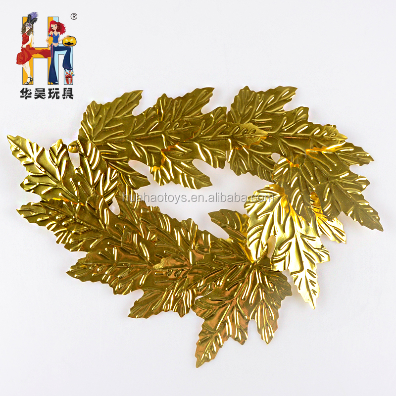 Novelty Style New Arrival Golden Maple Leaf Headband For Party Decoration