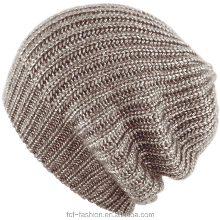 2a8d2445159 Long Knitted Pattern Beanie Hat Wholesale