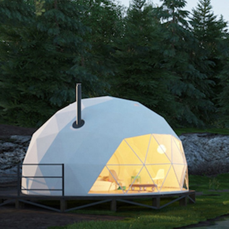 Factory Sale Luxury Roof Glamping Pvc Eco Geodesic Dome Hotel Tent For Glamping