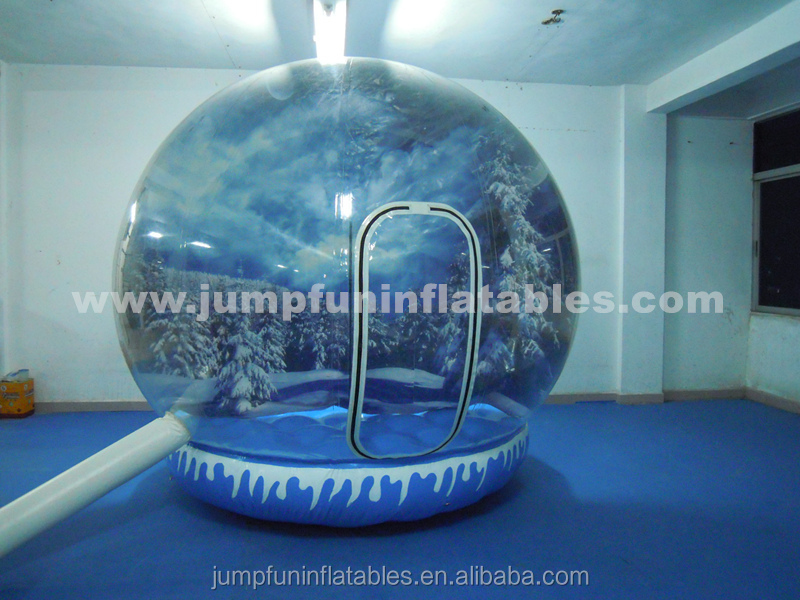 Clear PVC inflatable snow globe 3m diameter sealed base