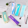 Cheap Wholesale kids laser plastic transparent kawaii zipper girls cute school pencil case