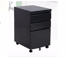 3 Drawers Mobile Pedestal Cabinet Steel Drawer Cabinet Stable Office Under Desk Used SD-HP3