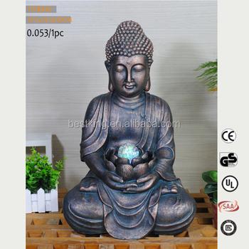 Beste Massgeschneiderte Outdoor Dekorative Garten Wasserfall Buddha Brunnen Fur Verkauf