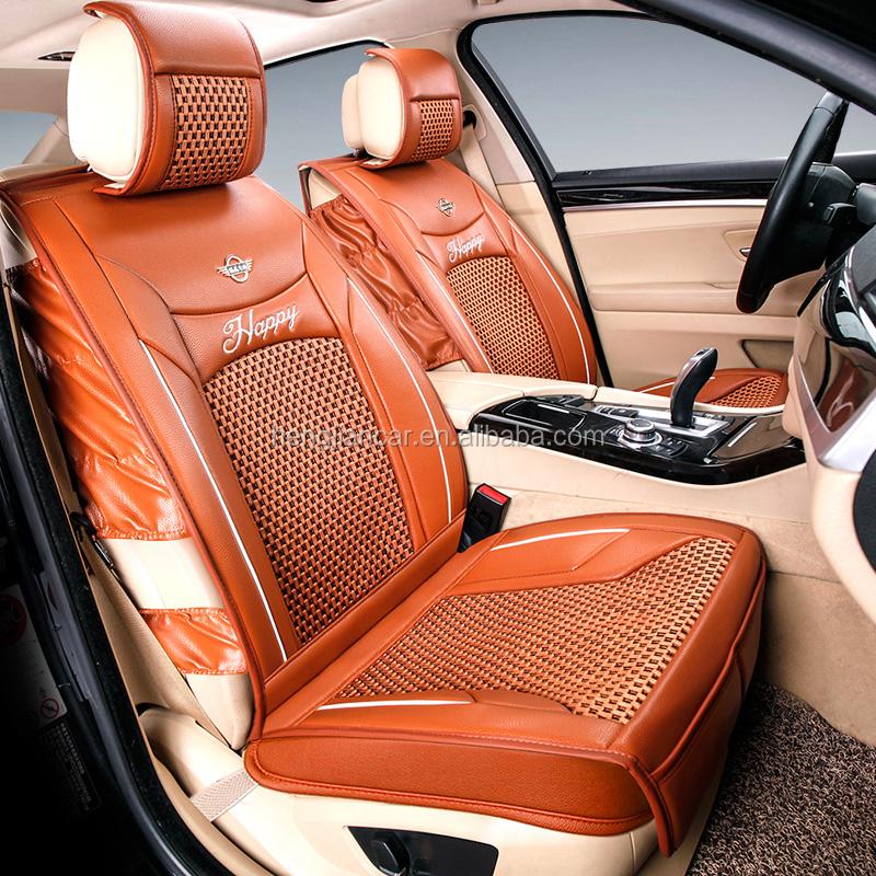 Faux Leather Ice Silk Universal Dubai Well Fit Orange Car Seat ...