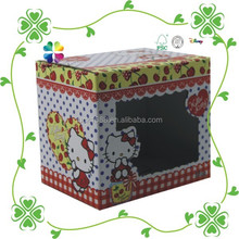 Custom unique toys packaging paper box Corrugated Folding PVC window paper gift set packaging box