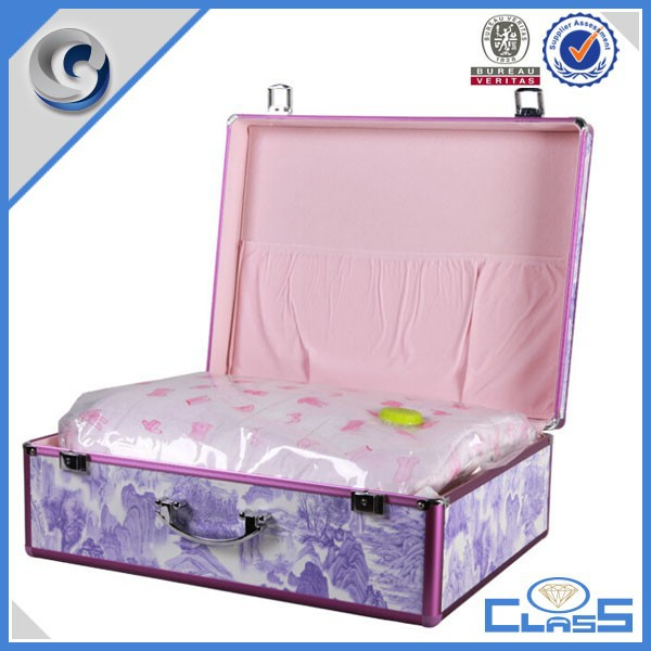 2015 New Luggage Case Purple Hot sale Packing case Wholesale Cotton Quilt Gift Case